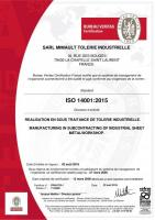 Certification Management <br>ISO 14001